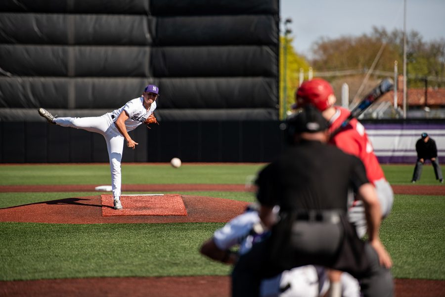 Nick Paciorek throws a strike. The junior right-hander led the Wildcats in strikeouts with 44 in only 26.2 innings.