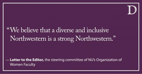 Letter to the Editor: On behalf of NU's Organization of Women Faculty