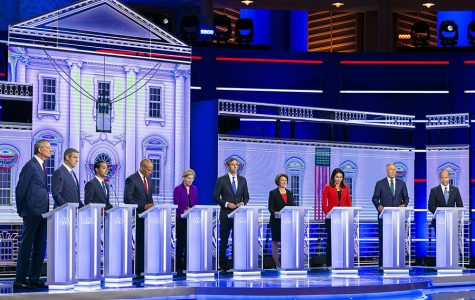 Democratic presidential hopefuls discuss free college, climate change in first debate