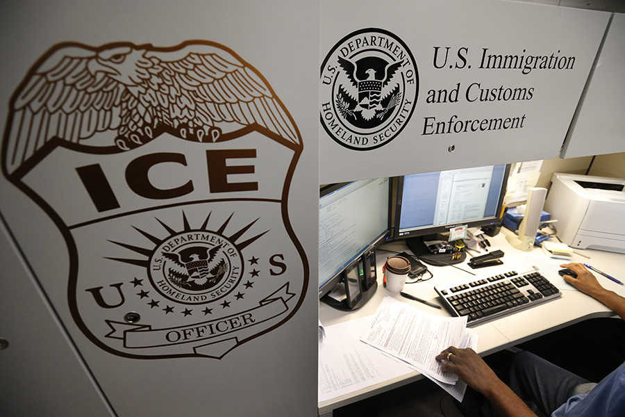 An Immigration and Customs Enforcement office. Illinois residents and local politicians have been preparing for a potential wave of raids in Chicago after a Twitter announcement by President Trump earlier this week.