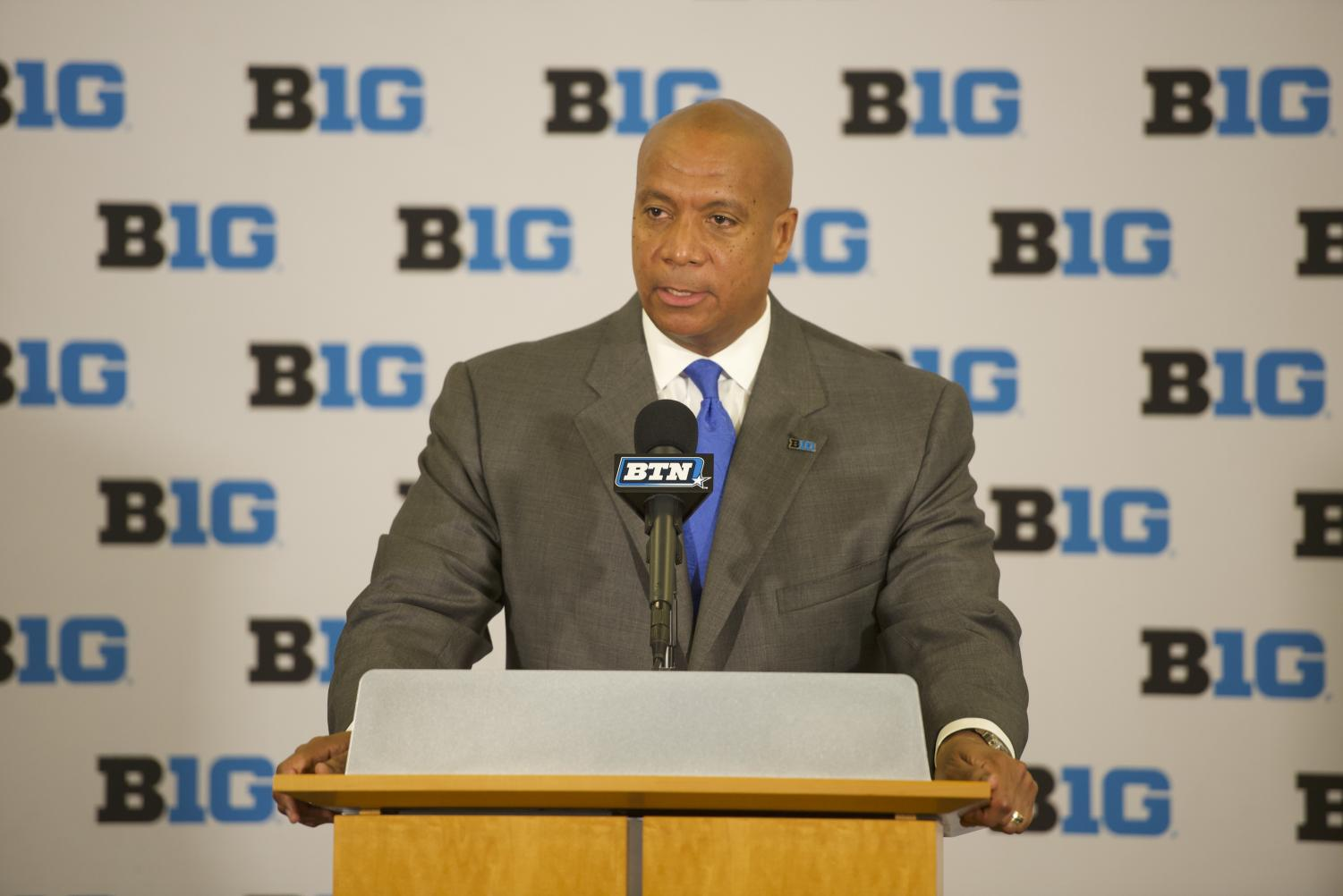 Kevin Warren speaks at a press conference Tuesday. The Minnesota Vikings COO was named the sixth commissioner in the history of the Big Ten.