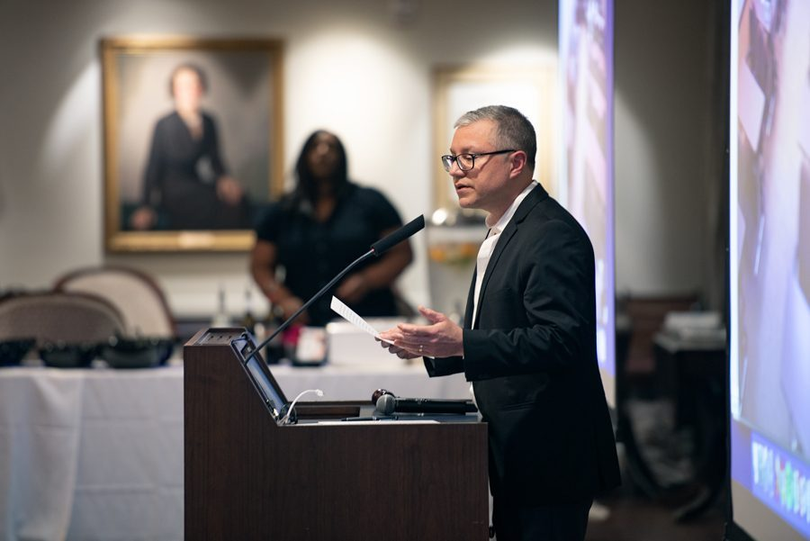 Outgoing Faculty Senate President Baron Reed. Faculty Senate earlier this month approved a resolution requesting the University move toward multi-year contracts for non-tenure eligible faculty.