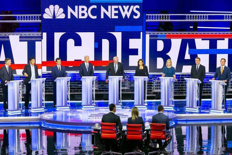 Ten presidential hopefuls stand on the debate stage. Thursday was the second part of the first round of Democratic debates in Miami.