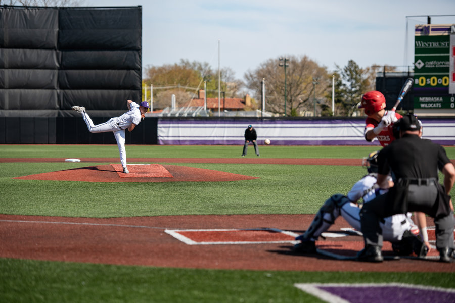 Nick Paciorek unleashes a strike. The junior right-hander was taken in the seventh round of the 2019 MLB Draft