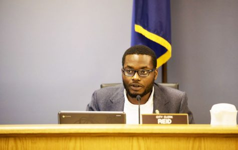 City clerk Devon Reid. Aldermen voted to table a resolution to censure Reid, after several city officials alleged that Reid harassed and threatened them.