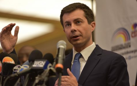 Democratic presidential candidate Pete Buttigieg spoke at the Rainbow/PUSH Coalition breakfast about the recent shooting of a black man by a white police officer in South Bend, Indiana.