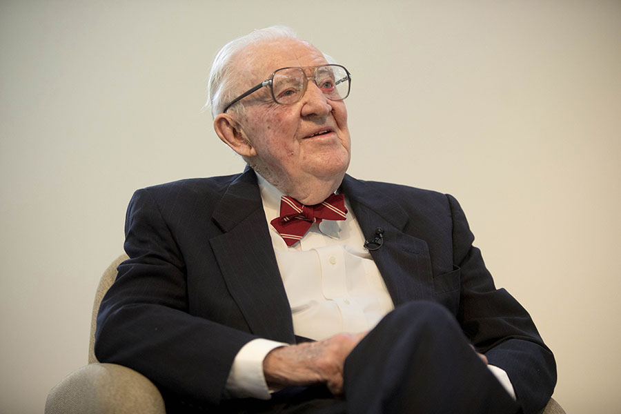 Justice John Paul Stevens. The former Supreme Court Justice and Northwestern alumnus died Tuesday from stroke complications.