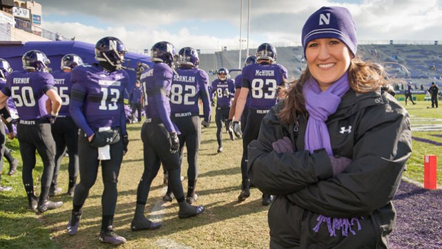 Maureen+Palchak+at+a+Northwestern+football+game.+Palchak+was+named+director+of+recreation+for+the+athletic+department+on+Monday.