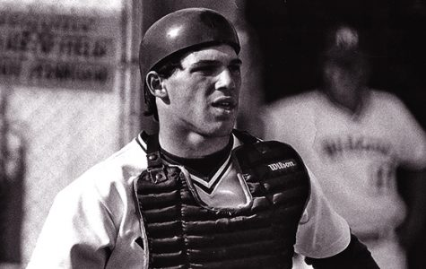 Joe Girardi as catcher for Northwestern. The former Wildcat was named the manager of Team USA for the WBSC Premier12 tournament in November.