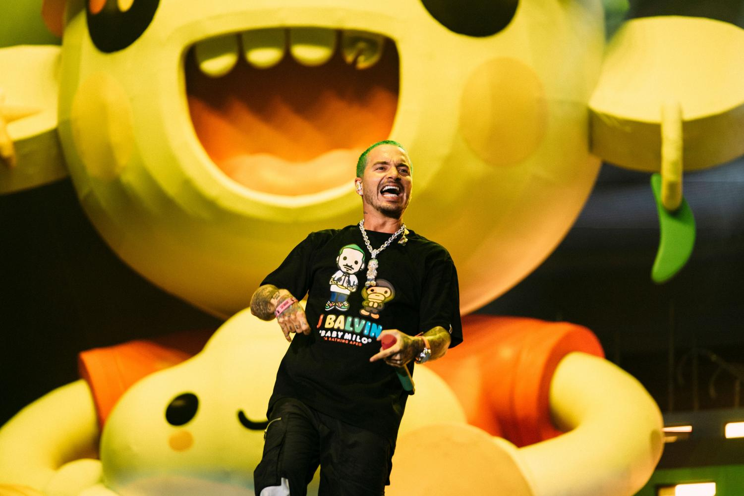 J Balvin made history as Lollapalooza's first Latinx headliner, and his energetic, flamboyant set did not disappoint.