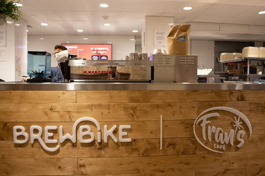 The BrewBike counter at Fran's Cafe in Willard Residential College is no longer open. Since moving completely online, BrewBike has engaged in extensive virtual marketing operations.