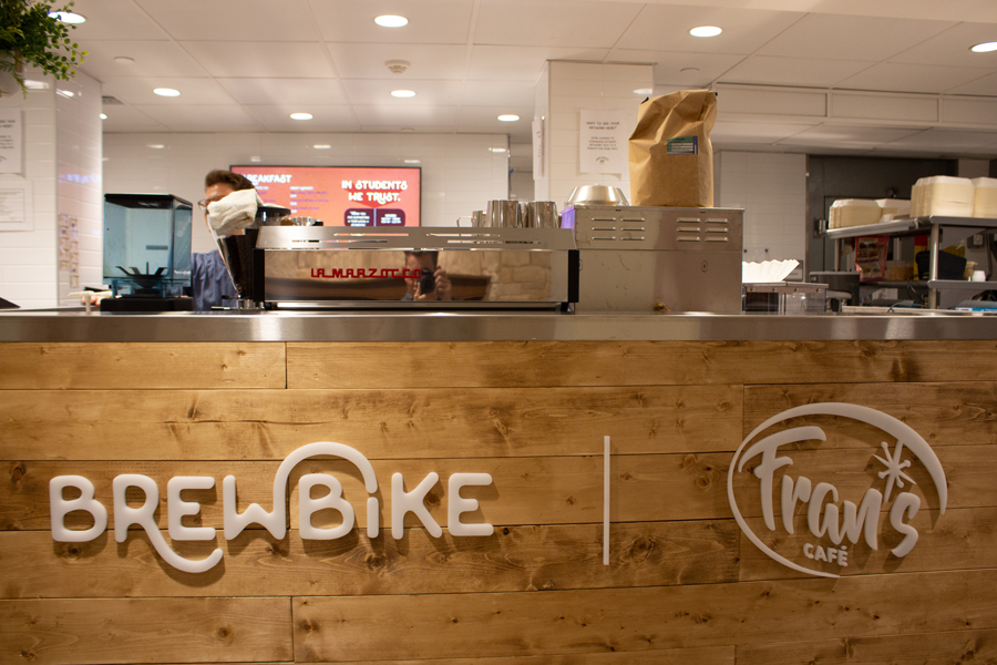 Brewbike's new location in Willard Residential College. The Northwestern startup is spreading off-campus as well, with launches at three other universities.