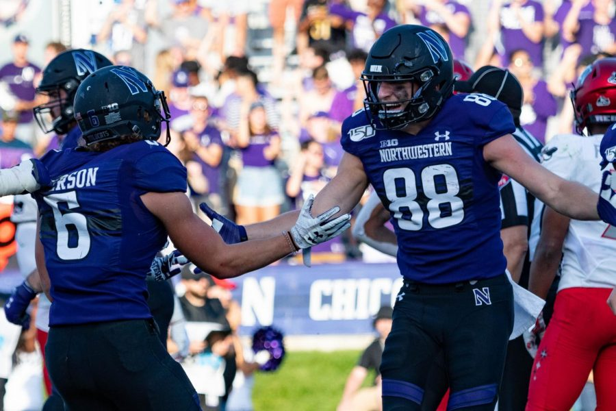 Football: Anderson stars as Northwestern downs UNLV for first win of 2019