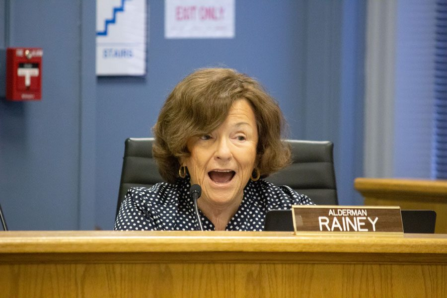 Ald. Ann Rainey (8th) at a City Council meeting. Rainey said there needs to be more development in Evanston.