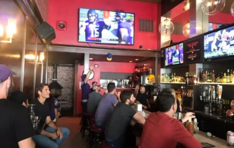 Northwestern alumni cheer on the Wildcats on Saturday at House Rules in San Francisco. NU defeated UNLV 30-14.