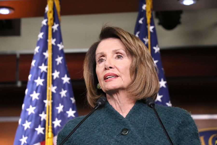 Nancy+Pelosi+%28D-California%29+speaks+at+a+press+conference+in+early+January+at+the+capitol.+Pelosi+announced+the+start+of+formal+impeachment+proceedings+for+President+Donald+Trump+on+Wednesday.+