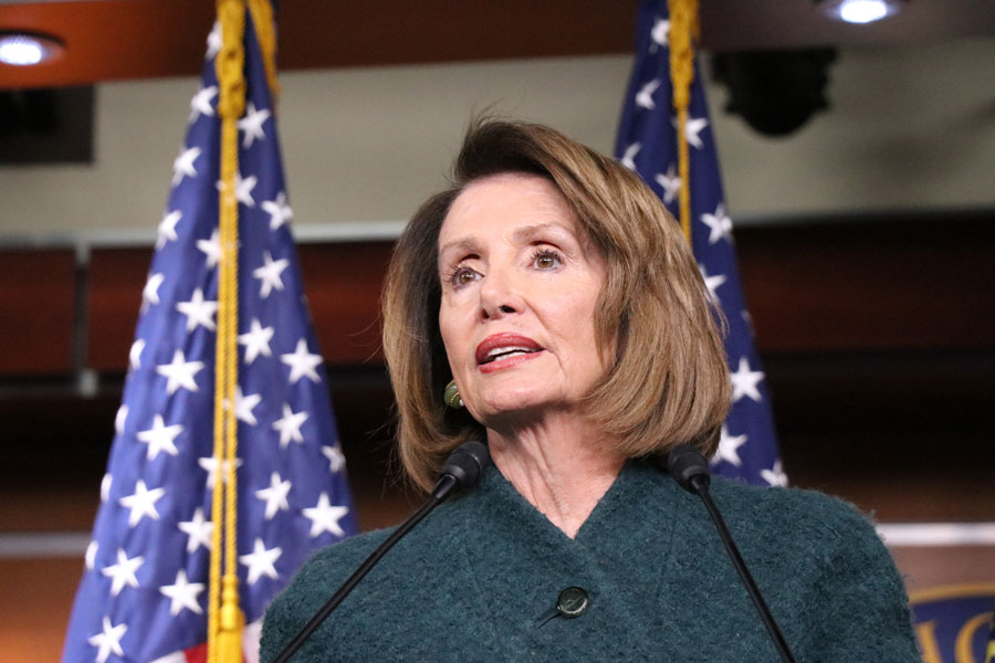 Nancy Pelosi (D-California) speaks at a press conference in early January at the capitol. Pelosi announced the start of formal impeachment proceedings for President Donald Trump on Wednesday.