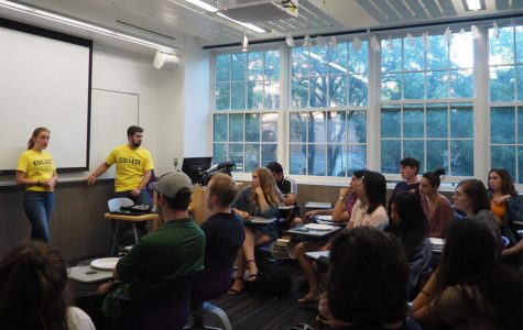 Progressive grassroots group holds first college kickoff on NU campus
