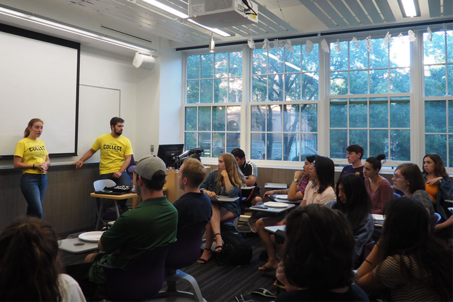 Swing Left holds college kickoff at Northwestern for the first time. The group focuses on recruiting Millennials and Gen Zers to strategize, train and connect with other college members for political causes.