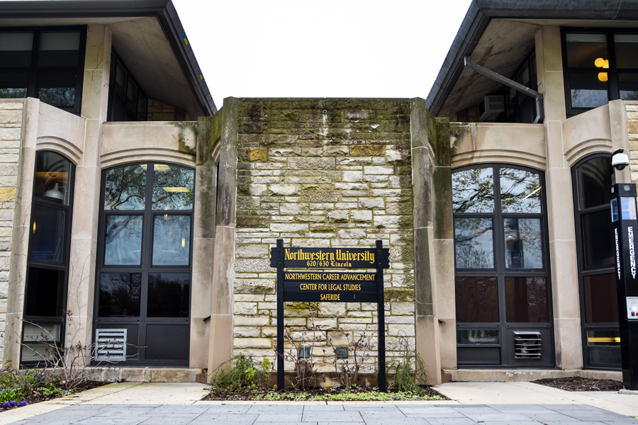 The exterior of Northwestern Career Advancement. Low-income students said they felt supported through the summer through NCA's Summer Internship Grant Program.