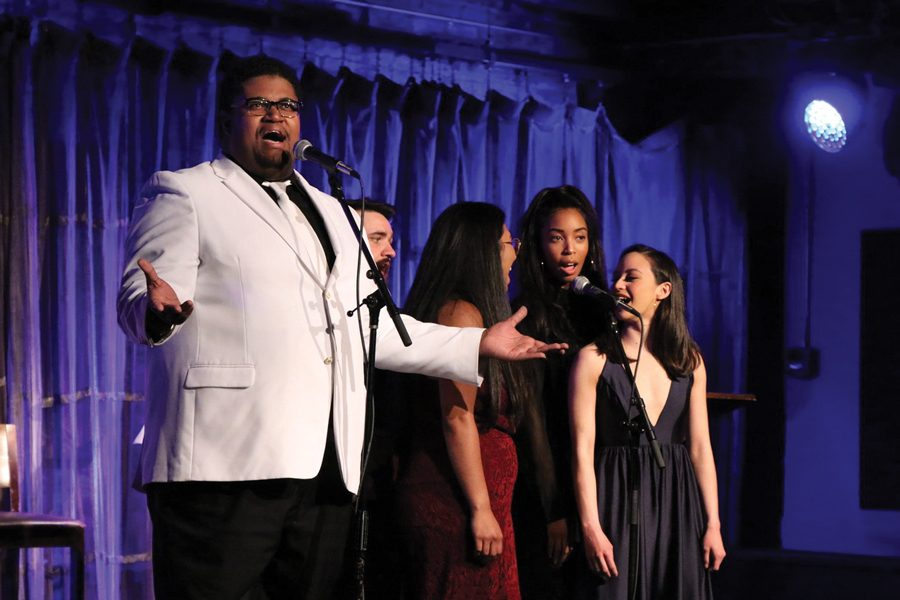 "Previous cast members of ""New Faces Sing Broadway"" perform. The upcoming concert will play at Evanston SPACE on Oct. 29."