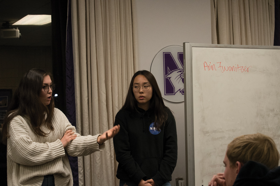 Students talk during Associated Student Government Senate. ASG introduced a resolution Wednesday calling for administrators to take immediate steps to establish a database system of preferred pronouns and names, with the choice to opt-out for privacy.