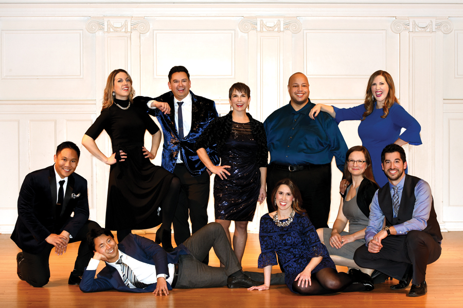 """The ensemble of Chicago a capella. The vocal group will be performing """"American Anthem"""" on Oct. 26 at Nichols Concert Hall."""