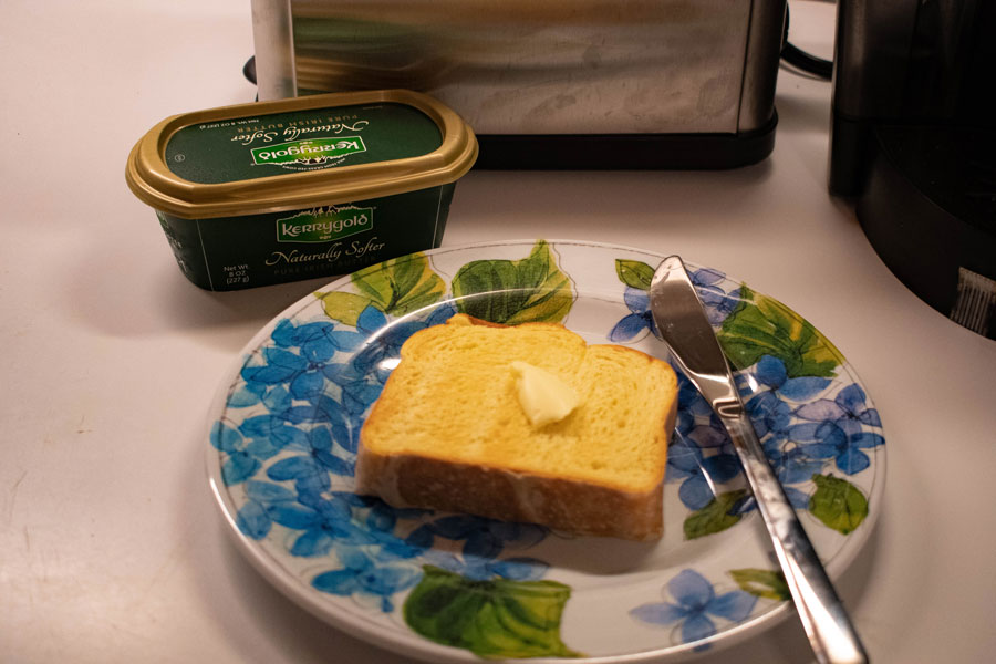 Butter on toast. Tariffs are affecting Kerrygold, a butter company with Evanston offices.