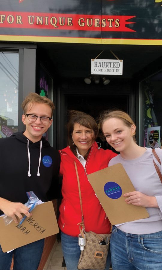 Weinberg junior Mara Kelly is an intern with Marie Newman's campaign. Kelly said she hopes to take the upcoming winter quarter off to work full time on Newman's campaign.