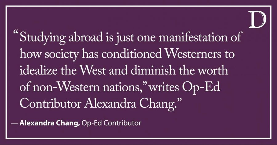 Chang: Studying abroad is too Eurocentric