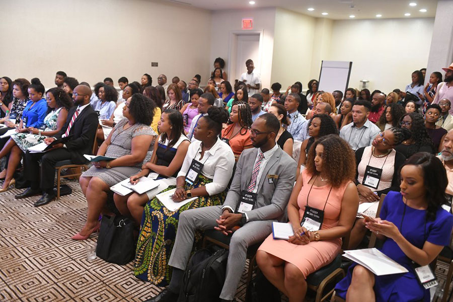 Attendees at the National Association of Black Journalists conference in Miami. Student journalists of color said their experience at summer conferences like NABJ, NAHJ and AAJA was invaluable.