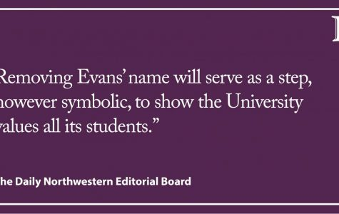 Editorial: Evans' name should be removed from campus buildings