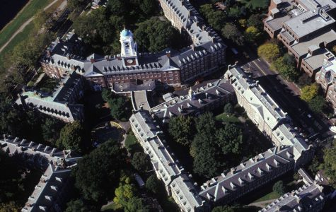 An aerial view of the Harvard University campus in 2013.
