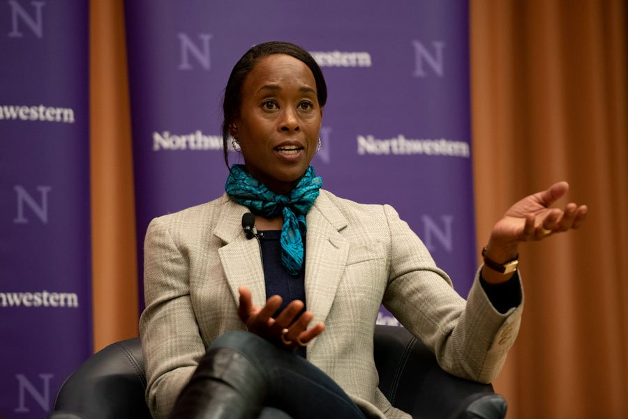 """""""Hidden Figures"""" author Margot Lee Shetterly speaks at One Book One Keynote. """"Hidden Figures"""" focuses on the real-life stories of four black women who worked at NASA and made significant contributions to the organization during the space race."""