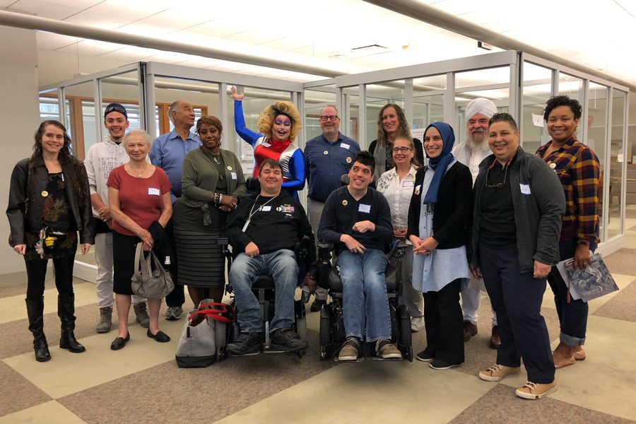 """Fifteen volunteer """"books"""" conversed with community members at Evanston Public Library's fourth Human Library this Sunday. The event aims to foster discussion and promote understanding among community members."""