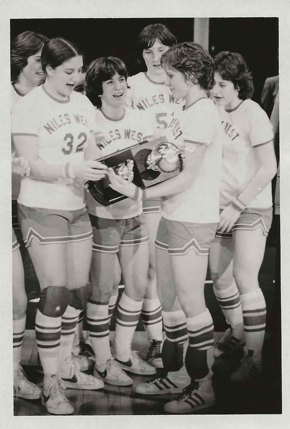 The Illinois state champion 1979 Niles West women's basketball team.