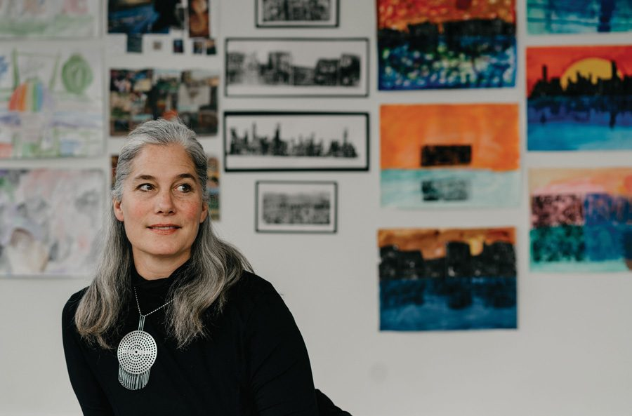 Lisa Degliantoni at One River School Evanston. As executive director of Evanston Made, Degliantoni said the organization has tried to shine a spotlight on the city's vibrant arts scene, and her core mission is to engage local artists with the public.