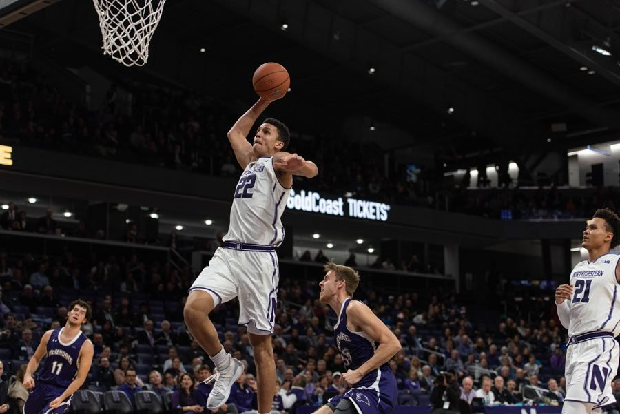 Pete Nance throws down a dunk. The sophomore forward is being put in the position for a breakout sophomore season.