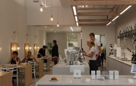 Newport Coffee House. The space was designed in the Swedish minimalist style.