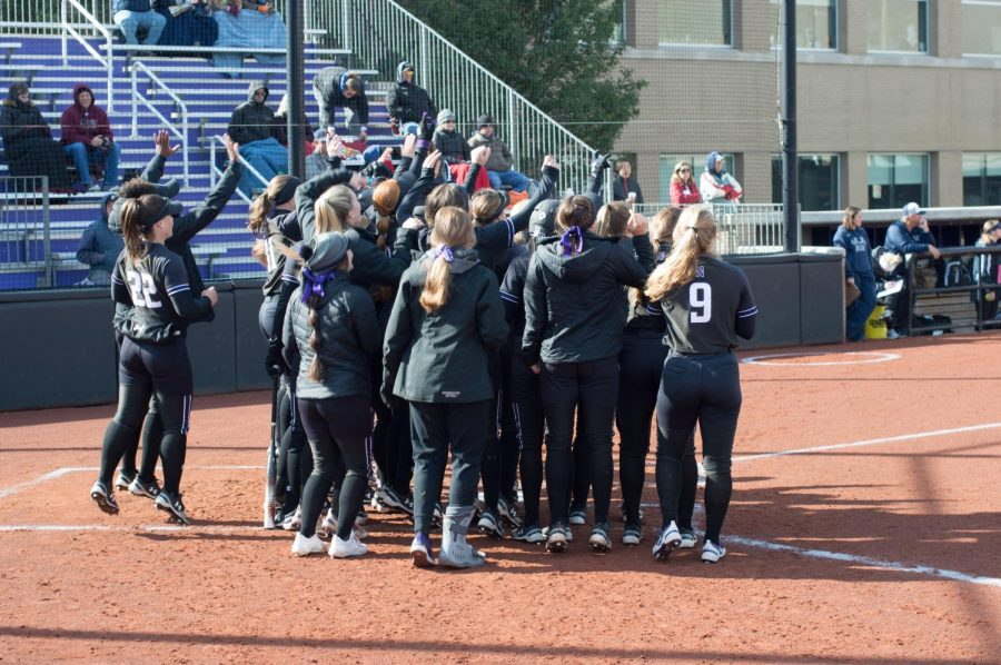 Northwestern celebrates a home run. This year's Wildcats will look to build off of last year's Super Regional appearance.