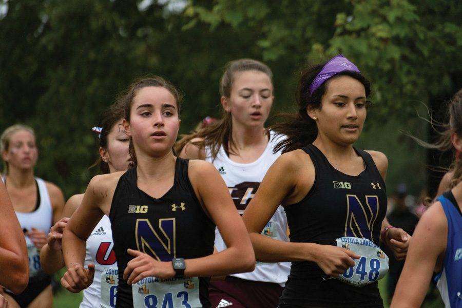 Cross country runners at the 2019 Loyola Lakefront Invite. With the 2020 season up in the air, Northwestern cross country is focusing on staying healthy and staying connected outside of practice.