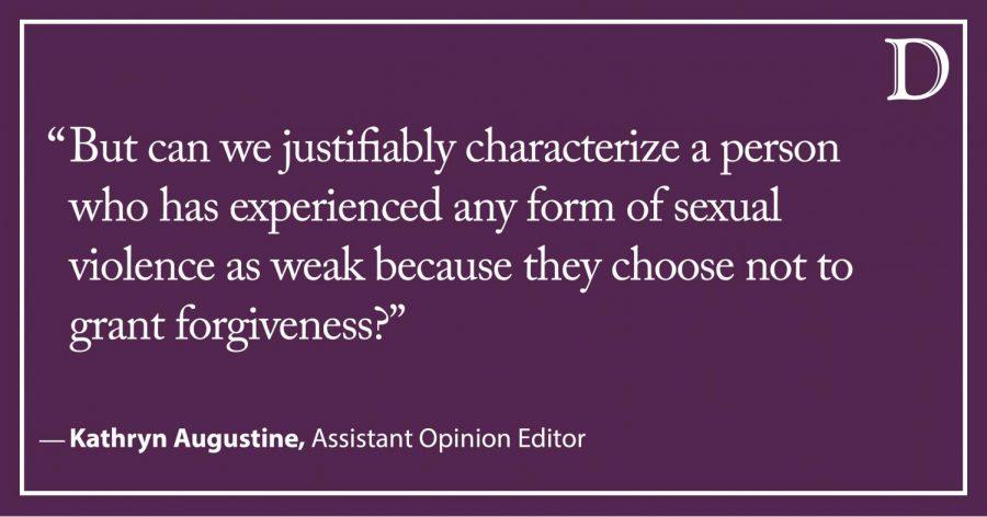 Augustine: Forgiveness should be a choice