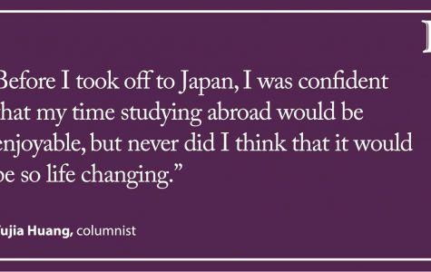 Huang: Study abroad gave me the courage to stop conforming