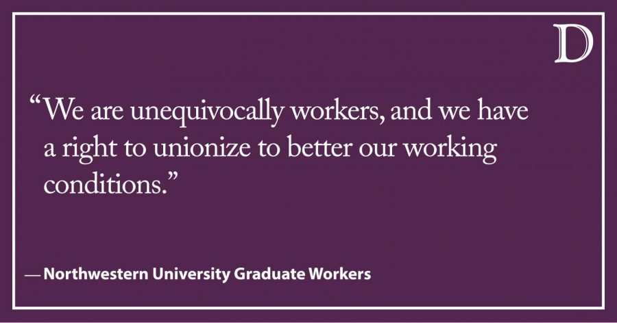 LTE: Northwestern's opposition to graduate unionization aligns with Trump