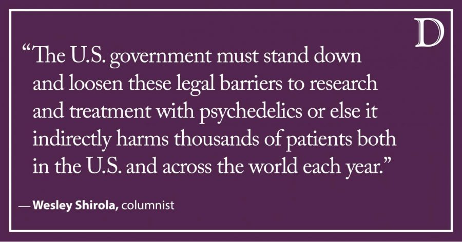 Shirola: U.S. government should ease legal barriers to research and treatment with psychedelics