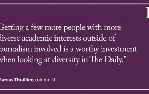 Thuillier: Diversity at The Daily is important, down to the subject you study