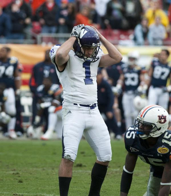 Kicker Stefan Demos missed two field goals and an extra point as the Cats fell in overtime for the second straight year in a bowl game, losing 38-35 to Auburn.