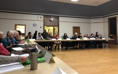 Organization representatives at Wednesday's coordination meeting for the Climate Action and Resilience Plan. City staff held the meeting so Evanston organizations could come together and discuss possible collaborations to further CARP-related objectives.