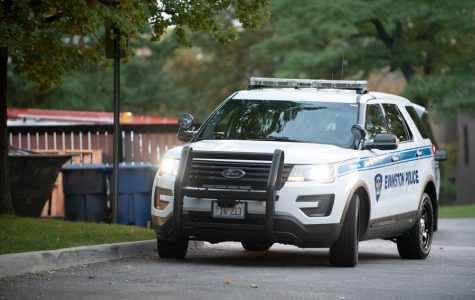An Evanston Police Department vehicle. The FBI said crime rates in Evanston increased this year.