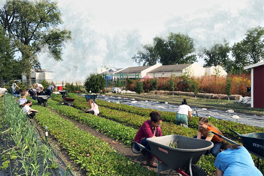 The Talking Farm. After being granted Skokie's first zoning designation for urban agriculture in 2014, the farm grows produce and creates educational programs for the local community.